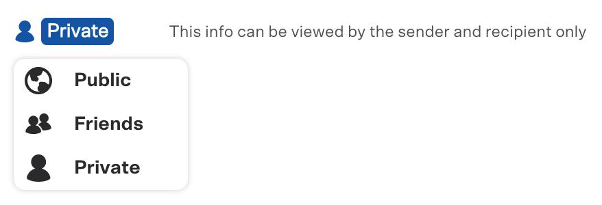 """Select """"Private"""" when using Venmo"""
